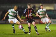 16 February 2018; Keith Ward of Bohemians in action against Ethan Boyle of Shamrock Rovers during the SSE Airtricity League Premier Division match between Bohemians and Shamrock Rovers at Dalymount Park in Dublin. Photo by Matt Browne/Sportsfile
