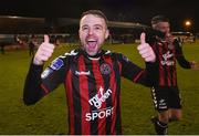 16 February 2018; Keith Ward of Bohemians celebrates after the SSE Airtricity League Premier Division match between Bohemians and Shamrock Rovers at Dalymount Park in Dublin. Photo by Matt Browne/Sportsfile