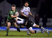 16 February 2018; Matt Healy of Connacht is tackled by Gabriele Di Giulio of Zebre during the Guinness PRO14 Round 15 match between Connacht and Zebre at the Sportsground in Galway. Photo by Harry Murphy/Sportsfile