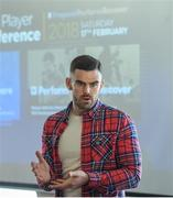 17 February 2018; Paul O'Donovan, Player Welfare Co-Ordinator at the Camogie Association speaking during the GAA Player Conference at Croke Park in Dublin. Photo by David Fitzgerald/Sportsfile