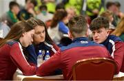 17 February 2018; Darragh Seery, Erin Heeney, Mary Reynolds and Peter Reynolds representing Westmeath in the table quiz during the All-Ireland Scór na nÓg Final 2018 at the Knocknarea Arena in Sligo IT, Sligo. Photo by Eóin Noonan/Sportsfile