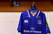 17 February 2018; The kit of Jordi Murphy, who makes his 100th appearance for Leinster today, hangs in the dressing room prior to the Guinness PRO14 Round 15 match between Leinster and Scarlets at the RDS Arena in Dublin. Photo by Brendan Moran/Sportsfile