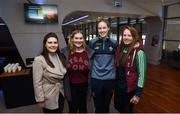 17 February 2018; Attendees, from left, Niamh Kelly of Aughawillan, Niamh Gately of Ahascragh/Caltra, Tara Taylor of Kilbride and Nóirín Ní Mhurchu of St Mullins during the GAA Player Conference at Croke Park in Dublin. Photo by David Fitzgerald/Sportsfile