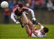 28 January 2018; Eoghan Kerin of Galway in action against Darren McCurry of Tyrone during the Allianz Football League Division 1 Round 1 match between Galway and Tyrone at St Jarlath's Park in Tuam, County Galway. Photo by Piaras Ó Mídheach/Sportsfile