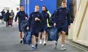 17 February 2018; Leinster players, from left, Noel Reid, Nick McCarthy, Dave Kearney and Ross Molony arrive prior to the Guinness PRO14 Round 15 match between Leinster and Scarlets at the RDS Arena in Dublin. Photo by Brendan Moran/Sportsfile