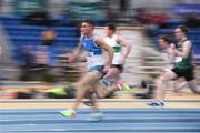 17 February 2018; Marcus Lawler of St. L. O'Toole AC, Co Carlow, competing in the Mens 60m Heats during the Irish Life Health National Senior Indoor Athletics Championships at the National Indoor Arena in Abbotstown, Dublin. Photo by Sam Barnes/Sportsfile