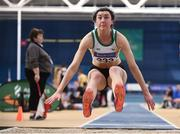 17 February 2018; Ruby Millet of St Abbans AC, Co Carlow, competing in the Womens Long Jump during the Irish Life Health National Senior Indoor Athletics Championships at the National Indoor Arena in Abbotstown, Dublin. Photo by Sam Barnes/Sportsfile