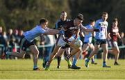 17 February 2018; Damien Comer of NUI Galway in action against Conor McCarthy of University College Dublin during the Electric Ireland HE GAA Sigerson Cup Final match between University College Dublin and NUI Galway at Santry Avenue in Dublin. Photo by Daire Brennan/Sportsfile