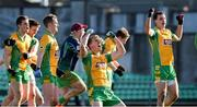 17 February 2018; Kieran Fitzgerald, centre, of Corofin celebrates with his team-mates after the AIB GAA Football All-Ireland Senior Club Championship Semi-Final match between Corofin and Moorefield at O'Connor Park in Tullamore, Offaly. Photo by Matt Browne/Sportsfile