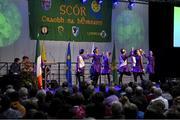 17 February 2018; Aoife Leahy, Sarah English, Caelainn McGrath, Emma Wyse, Hollie Burke, Orlaith Dalton, Eimear O'Connor and Orlaith Nugent from Newcastle, Tipperary, competing in the Rince Foirne category during the All-Ireland Scór na nÓg Final 2018 at the Knocknarea Arena in Sligo IT, Sligo. Photo by Eóin Noonan/Sportsfile