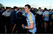 17 February 2018; University College Dublin captain Stephen Coen celebrates after the Electric Ireland HE GAA Sigerson Cup Final match between University College Dublin and NUI Galway at Santry Avenue in Dublin. Photo by Daire Brennan/Sportsfile