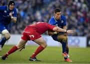 17 February 2018; Noel Reid of Leinster is tackled by Phil Price of Scarlets during the Guinness PRO14 Round 15 match between Leinster and Scarlets at the RDS Arena in Dublin. Photo by Brendan Moran/Sportsfile