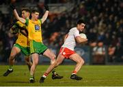 17 February 2018; Darren McCurry of Tyrone in action against Conor Morrison of Donegal during the Bank of Ireland Dr. McKenna Cup Final match between Tyrone and Donegal at the Athletic Grounds in Armagh. Photo by Oliver McVeigh/Sportsfile