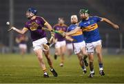 17 February 2018; Kevin Foley of Wexford in action against Noel McGrath of Tipperary during the Allianz Hurling League Division 1A Round 3 match between Tipperary and Wexford at Semple Stadium in Thurles, Tipperary. Photo by Stephen McCarthy/Sportsfile