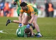 17 February 2018; Martin Farragher of Corofin who was sent off after this incident with Liam Healy of Moorefield during the AIB GAA Football All-Ireland Senior Club Championship Semi-Final match between Corofin and Moorefield at O'Connor Park in Tullamore, Offaly. Photo by Matt Browne/Sportsfile