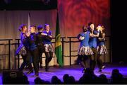 17 February 2018; Erin Holland, Meghann Cronin, Siona Moynihan, Orlaith Spillane, Liam Spillane, Gary O'Sullivan, Cian O'Sullivan and Eoghan Mulvanney from Spa, Kerry, competing in the Set Dancing category during the All-Ireland Scór na nÓg Final 2018 at the Knocknarea Arena in Sligo IT, Sligo. Photo by Eóin Noonan/Sportsfile