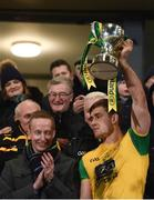 17 February 2018; Hugh McFadden of Donegal lifts the Dr McKenna Cup after the Bank of Ireland Dr. McKenna Cup Final match between Tyrone and Donegal at the Athletic Grounds in Armagh. Photo by Oliver McVeigh/Sportsfile