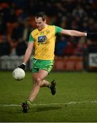 17 February 2018; Michael Murphy of Donegal scores a point during the Bank of Ireland Dr. McKenna Cup Final match between Tyrone and Donegal at the Athletic Grounds in Armagh. Photo by Oliver McVeigh/Sportsfile