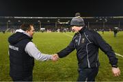 17 February 2018; Wexford manager Davy Fitzgerald, left, and Tipperary manager Michael Ryanfollowing the Allianz Hurling League Division 1A Round 3 match between Tipperary and Wexford at Semple Stadium in Thurles, Tipperary. Photo by Stephen McCarthy/Sportsfile