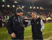 17 February 2018; Wexford manager Davy Fitzgerald, right, and Tipperary manager Michael Ryanfollowing the Allianz Hurling League Division 1A Round 3 match between Tipperary and Wexford at Semple Stadium in Thurles, Tipperary. Photo by Stephen McCarthy/Sportsfile