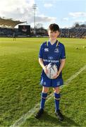 17 February 2018; Leinster mascot Robbie Jones, from Donnybrook, Dublin prior to the Guinness PRO14 Round 15 match between Leinster and Scarlets at the RDS Arena in Dublin. Photo by Brendan Moran/Sportsfile