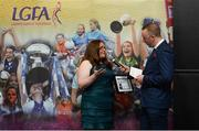 17 February 2018; The Ladies Gaelic Football Association has announced details of the inaugural LGFA Volunteer of the Year awards. Administrators, coaches and media were among those honoured across seven categories, and the awards were presented at Croke Park on Saturday, February 17. Aisling Cleary, Leinster LGFA PRO, from Co Meath, PRO of the Year Award Winner, in conversation with Jackie Cahill, LGFA Commercial and Communications Manager. Croke Park, Dublin. Photo by Piaras Ó Mídheach/Sportsfile