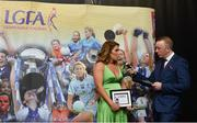 17 February 2018; The Ladies Gaelic Football Association has announced details of the inaugural LGFA Volunteer of the Year awards. Administrators, coaches and media were among those honoured across seven categories, and the awards were presented at Croke Park on Saturday, February 17. Laura Bannon, from St Dominic's Grammar School Falls Road Belfast, Co Antrim, School Coach of the Year Award Winner, in conversation with Jackie Cahill, LGFA Commercial and Communications Manager. Croke Park, Dublin. Photo by Piaras Ó Mídheach/Sportsfile