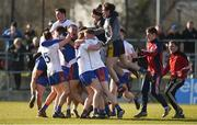17 February 2018; Mary Immaculate College Limerick players celebrate after the Electric Ireland HE GAA Trench Cup Final match between Waterford Institute of Technology and Mary Immaculate College Limerick at Santry Avenue in Dublin. Photo by Daire Brennan/Sportsfile