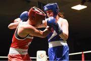17 February 2018; Ciara Sheedy, Ardnaree, Co. Mayo, right, in action against Grainne Walsh, Sparticus, Tullamore, Co. Offaly during their bout at the 2018 IABA Elite Boxing Championships Semi-Finals at the National Stadium in Dublin. Photo by Barry Cregg/Sportsfile