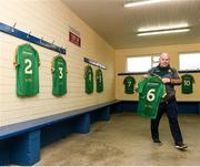 18 February 2018; Meath kit man Paddy Doyle in the dressing room prior the Allianz Football League Division 2 Round 3 Refixture match between Cavan and Meath at Kingspan Breffni in Cavan. Photo by Philip Fitzpatrick/Sportsfile