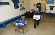 18 February 2018; Cavan kit man Brian Heney in the dressing room prior to the Allianz Football League Division 2 Round 3 Refixture match between Cavan and Meath at Kingspan Breffni in Cavan. Photo by Philip Fitzpatrick/Sportsfile