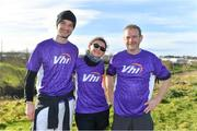 17 February 2018; VHI staff members Federica Annichirico and John Quinn, with Emmanuel Kavanagh, left, after taking part in the Tolka Valley parkrun in Finglas, Dublin. parkrun Ireland in partnership with Vhi, added their 87th event on Saturday, February 17th, with the introduction of the Tolka Valley parkrun in Finglas, Dublin 11. parkruns take place over a 5km course weekly, are free to enter and are open to all ages and abilities, providing a fun and safe environment to enjoy exercise. To register for a parkrun near you visit www.parkrun.ie. Photo by Brendan Moran/Sportsfile