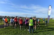 17 February 2018; Volunteers help participants taking part in the Tolka Valley parkrun in Finglas, Dublin. parkrun Ireland in partnership with Vhi, added their 87th event on Saturday, February 17th, with the introduction of the Tolka Valley parkrun in Finglas, Dublin 11. parkruns take place over a 5km course weekly, are free to enter and are open to all ages and abilities, providing a fun and safe environment to enjoy exercise. To register for a parkrun near you visit www.parkrun.ie. Photo by Brendan Moran/Sportsfile