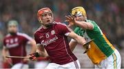 18 February 2018; Conor Whelan of Galway in action against Pat Camon of Offaly during the Allianz Hurling League Division 1B Round 3 match between Galway and Offaly at Pearse Stadium in Galway. Photo by Matt Browne/Sportsfile