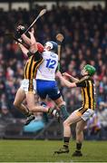 18 February 2018; Tom Devine of Waterford in action against Cillian Buckley, left, and Joey Holden of Kilkenny during the Allianz Hurling League Division 1A Round 3 match between Waterford and Kilkenny at Walsh Park in Waterford. Photo by Stephen McCarthy/Sportsfile