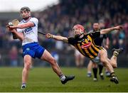 18 February 2018; Pauric Mahony of Waterford gets his shot away despite the attention of Cillian Buckley of Kilkenny during the Allianz Hurling League Division 1A Round 3 match between Waterford and Kilkenny at Walsh Park in Waterford. Photo by Stephen McCarthy/Sportsfile