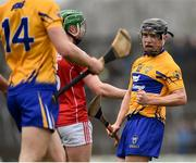 18 February 2018; David Reidy of Clare reacts after a decision is awarded to his side during the Allianz Hurling League Division 1A Round 3 match between Clare and Cork at Cusack Park in Ennis, Clare. Photo by Seb Daly/Sportsfile