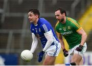 18 February 2018; Niall Murray of Cavan in action against Graham Reilly of Meath during the Allianz Football League Division 2 Round 3 Refixture match between Cavan and Meath at Kingspan Breffni in Cavan.  Photo by Philip Fitzpatrick/Sportsfile