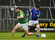18 February 2018; Bryan Menton of Meath in action against Enda Flanagan of Cavan during the Allianz Football League Division 2 Round 3 Refixture match between Cavan and Meath at Kingspan Breffni in Cavan.  Photo by Philip Fitzpatrick/Sportsfile