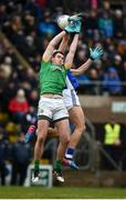 18 February 2018; Bryan Menton of Meath in action against Padraig Faulkner of Cavan during the Allianz Football League Division 2 Round 3 Refixture match between Cavan and Meath at Kingspan Breffni in Cavan.  Photo by Philip Fitzpatrick/Sportsfile