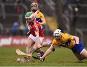 18 February 2018; Daniel Kearney of Cork in action against Patrick O'Connor of Clare during the Allianz Hurling League Division 1A Round 3 match between Clare and Cork at Cusack Park in Ennis, Clare. Photo by Seb Daly/Sportsfile