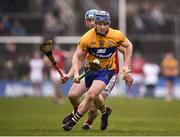 18 February 2018; Podge Collins of Clare in action against Sean O'Donoghue of Cork during the Allianz Hurling League Division 1A Round 3 match between Clare and Cork at Cusack Park in Ennis, Clare. Photo by Seb Daly/Sportsfile