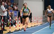 18 February 2018; Niamh Whelan of Ferrybank AC, Co Waterford, on her way to winning the Senior Women 200m during the Irish Life Health National Senior Indoor Athletics Championships at the National Indoor Arena in Abbotstown, Dublin. Photo by Sam Barnes/Sportsfile
