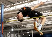 18 February 2018; Marcin Klinkosz of Clonliffe Harriers A.C. Dublin, competing in the Senior Men High Jump during the Irish Life Health National Senior Indoor Athletics Championships at the National Indoor Arena in Abbotstown, Dublin. Photo by Eóin Noonan/Sportsfile