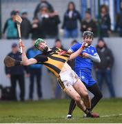 18 February 2018; Martin Keoghan of Kilkenny is fouled by Waterford goalkeeper Ian O'Regan during the Allianz Hurling League Division 1A Round 3 match between Waterford and Kilkenny at Walsh Park in Waterford. Photo by Stephen McCarthy/Sportsfile