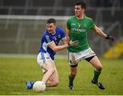 18 February 2018; Oisin Kiernan of Cavan in action against Shane McEntee of Meath during the Allianz Football League Division 2 Round 3 Refixture match between Cavan and Meath at Kingspan Breffni in Cavan. Photo by Philip Fitzpatrick/Sportsfile