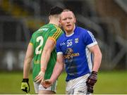 18 February 2018; Seamus Lavin of Meath and Cian Mackey of Cavan following the Allianz Football League Division 2 Round 3 Refixture match between Cavan and Meath at Kingspan Breffni in Cavan.  Photo by Philip Fitzpatrick/Sportsfile