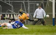 18 February 2018; Andy Colgan of Meath in action during the Allianz Football League Division 2 Round 3 Refixture match between Cavan and Meath at Kingspan Breffni in Cavan.  Photo by Philip Fitzpatrick/Sportsfile