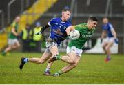 18 February 2018; Liam Ferguson of Meath in action against David Phillips of Cavan during the Allianz Football League Division 2 Round 3 Refixture match between Cavan and Meath at Kingspan Breffni in Cavan.  Photo by Philip Fitzpatrick/Sportsfile