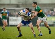 18 February 2018; Conor McManus of Monaghan in action against Shane Enright of Kerry during the Allianz Football League Division 1 Round 3 Refixture match between Monaghan and Kerry at Páirc Grattan in Inniskeen, Monaghan. Photo by Oliver McVeigh/Sportsfile